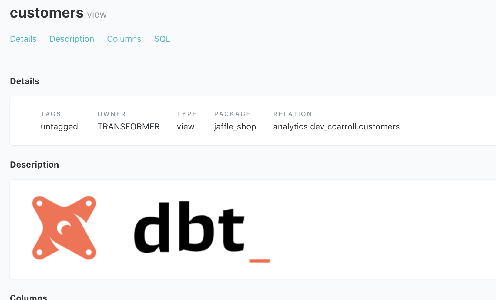 The image at assets/dbt-logo.png is rendered correctly